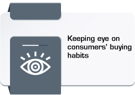 Keeping eye on consumers' buying habits