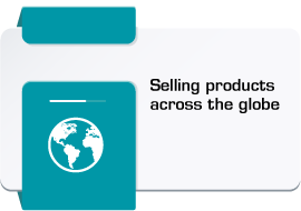 Selling products across the globe